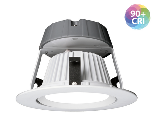 NICOR DCG421204KWH DCG Series 4 in. White Gimbal LED Recessed Downlight, 4000K