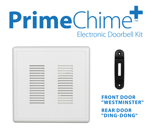 NICOR PRCP1DBBK PrimeChime Plus - Video Compatible Doorbell Chime Kit with Black Decorative Button