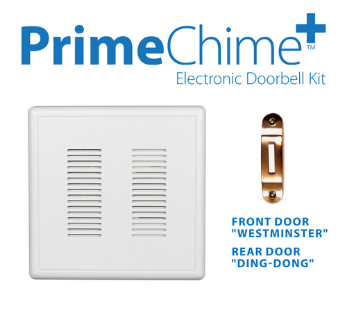NICOR PRCP1DBCO PrimeChime Plus - Video Compatible Doorbell Chime Kit with Copper Decorative Button