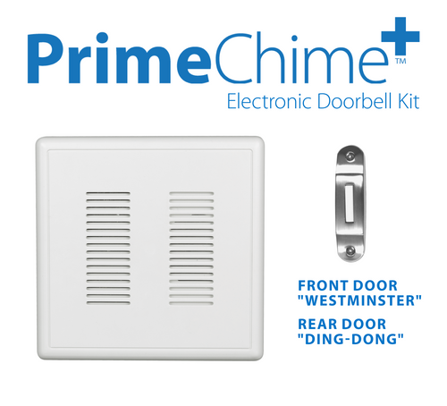 NICOR PRCP1DBNK PrimeChime Plus - Video Compatible Doorbell Chime Kit with Nickel Decorative Button