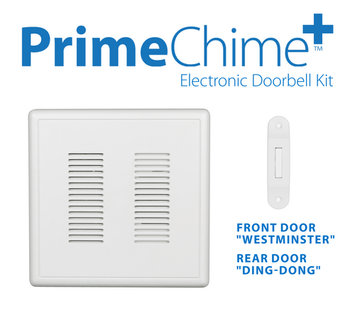 NICOR PRCP1DBWH PrimeChime Plus - Video Compatible Doorbell Chime Kit with White Decorative Button
