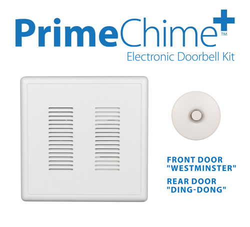 NICOR PRCP1SBWH PrimeChime Plus - Video Compatible Doorbell Chime Kit with White Stucco Button