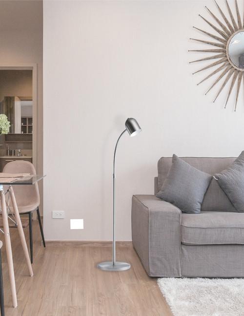 DAINOLITE 123LEDF-SC 5 Watt LED Floor Lamp, Satin Chrome Finish