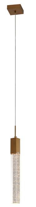 LIGHTING JUNGLE ADS01P1G 1-Light Single Pendant Lighting, Gold