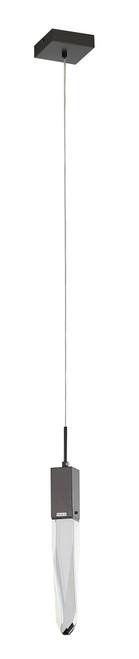 LIGHTING JUNGLE ADS12P1B 1-Light Single Pendant Lighting, Matte Black
