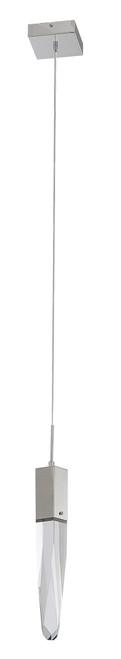 LIGHTING JUNGLE ADS12P1CH 1-Light Single Pendant Lighting, Chrome