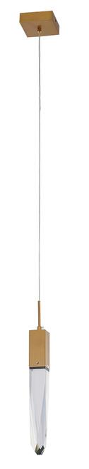 LIGHTING JUNGLE ADS12P1G 1-Light Single Pendant Lighting, Gold