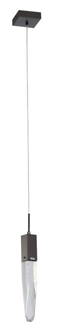 LIGHTING JUNGLE ADS13P1B 1-Light Single Pendant Lighting, Matte Black