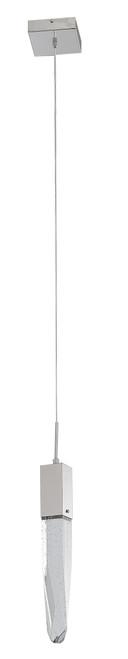 LIGHTING JUNGLE ADS13P1CH 1-Light Single Pendant Lighting, Chrome