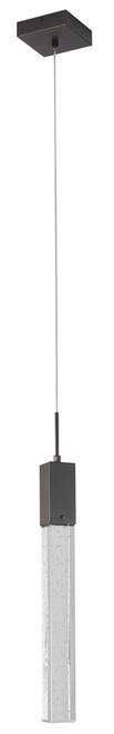 LIGHTING JUNGLE ADS01P1B 1-Light Single Pendant Lighting, Matte Black