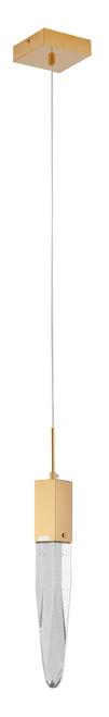 LIGHTING JUNGLE ADS13P1G 1-Light Single Pendant Lighting, Gold