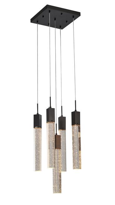 LIGHTING JUNGLE ADS03C5B 5-Light Chandelier, Matte Black