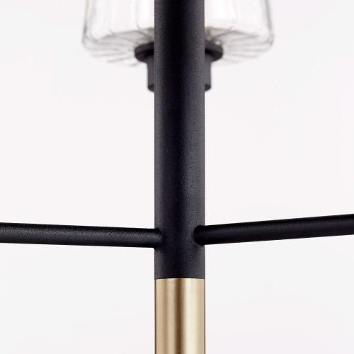 QUORUM 625-3-6980 Dalia 3-Light Chandelier,Noir w/ Aged Brass