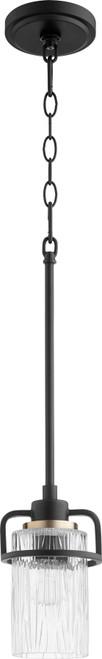 QUORUM 327-69 Lazo 1-Light Pendant Light,Noir