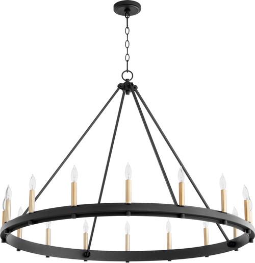 QUORUM 611-16-69 Aura 16-Light Chandelier,Noir
