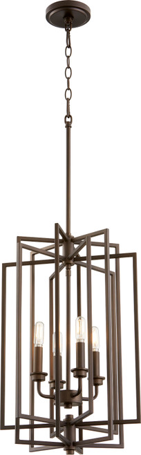 QUORUM 688-4-86 Hammond 4-Light Entry,Oiled Bronze