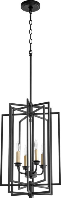 QUORUM 688-4-69 Hammond 4-Light Entry,Noir