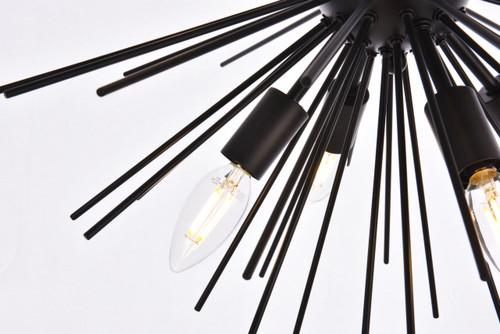 Living Disrict LD5051D20BK Timber 8 lights black pendant