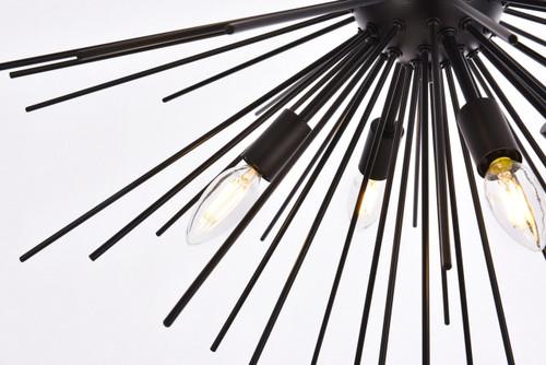 Living Disrict LD5051D30BK Timber 8 lights black pendant