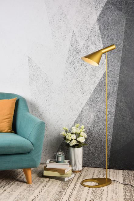 Living District LD2365BR Juniper 1 light brass floor lamp