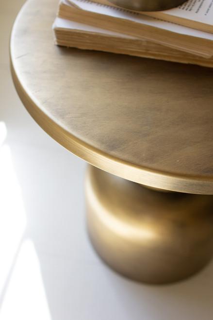 KALALOU CBB1131 ANTIQUE BRASS METAL ACCENT TABLE