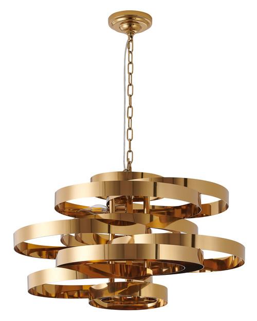 Bethel International  KD165141-5 5-Light Chandelier Shiny Gold
