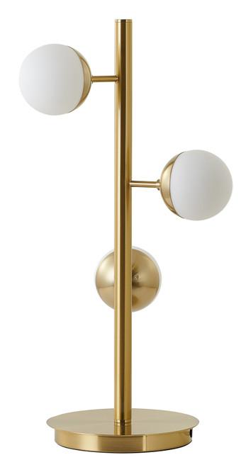 Bethel International  AV72T13BR 3-Light Table Lamp Brass