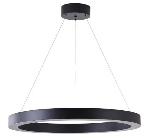 Bethel International  MU30AC33B 1-Light LED Chandelier Matte Black
