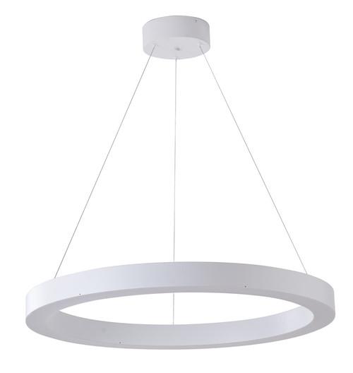 Bethel International  MU30AC33W 1-Light LED Chandelier Matte White