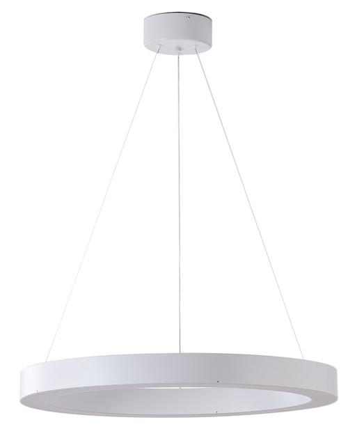 Bethel International  MU30BC25W 1-Light LED Chandelier Matte White