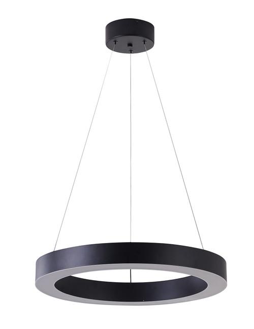 Bethel International  MU30CC21B 1-Light LED Chandelier Matte Black