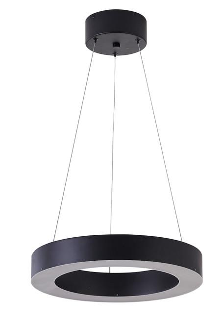 Bethel International  MU30DC15B 1-Light LED Chandelier Matte Black