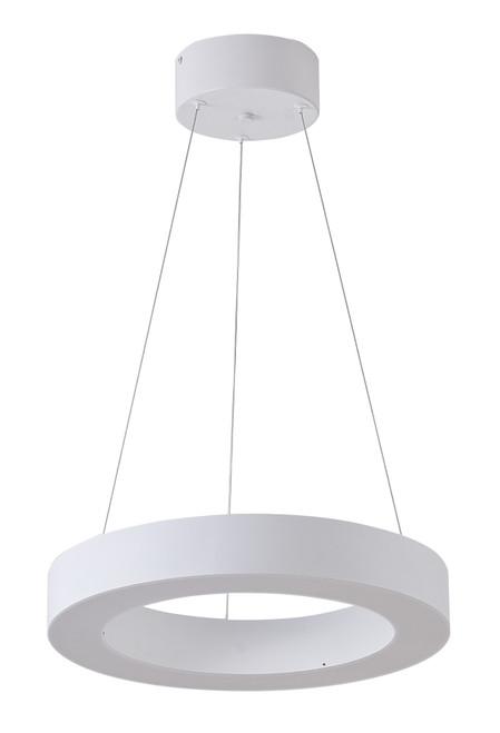 Bethel International  MU30DC15W 1-Light LED Chandelier Matte White