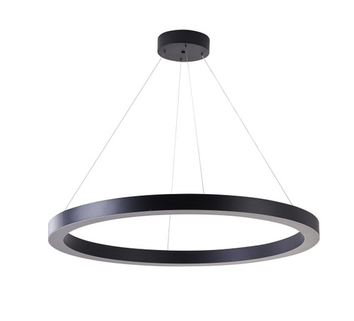 Bethel International  MU30EC43B 1-Light LED Chandelier Matte Black