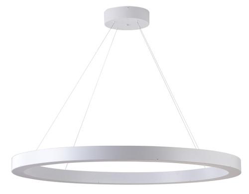 Bethel International  MU30EC43W 1-Light LED Chandelier Matte White