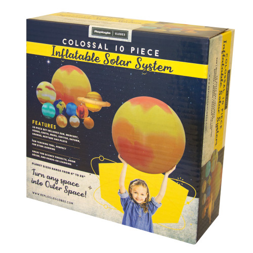 """REPLOGLE 17801 INFLATE SOLAR SYSTEM 8""""-28"""" Globes"""