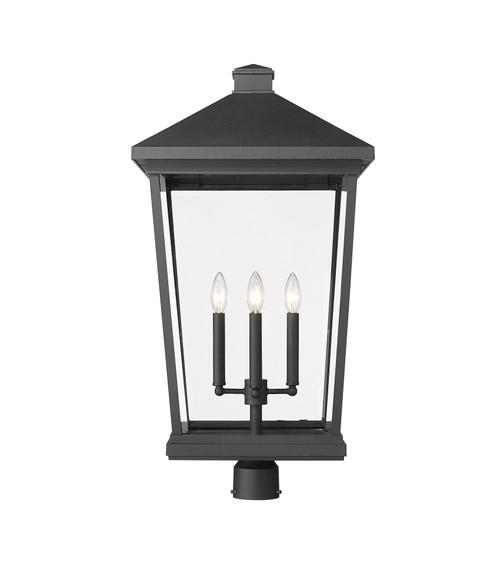 Z-LITE 568PHXXLR-BK 4 Light Outdoor Post Mount Fixture ,Black