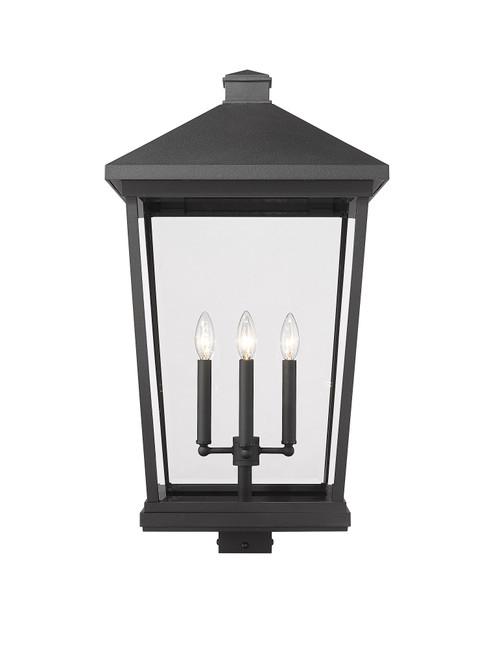 Z-LITE 568PHXXLS-BK 4 Light Outdoor Post Mount Fixture ,Black