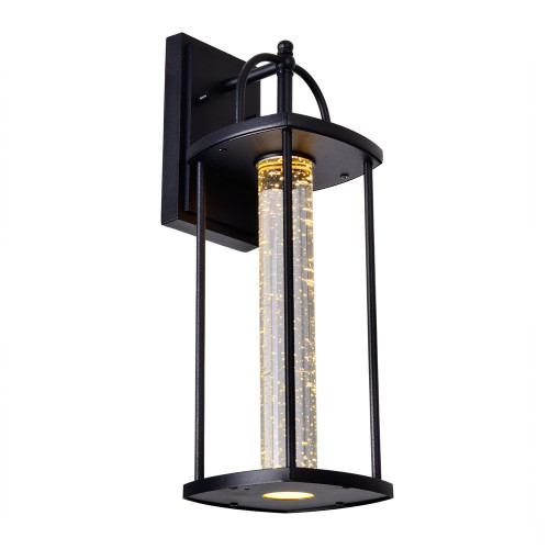 CWI LIGHTING 0407W7-1-101-A Greenwood LED Outdoor Black Wall Lantern