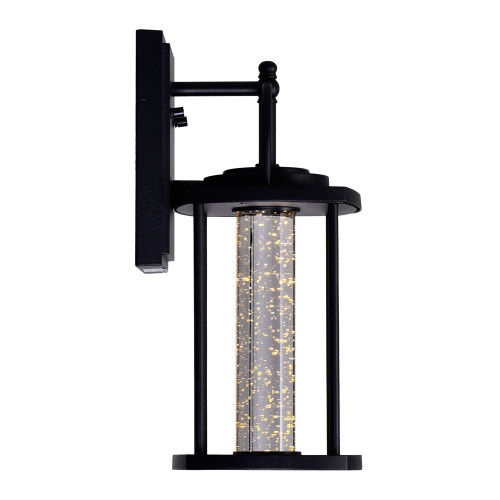 CWI LIGHTING 0407W7-1-101 Greenwood LED Outdoor Black Wall Lantern