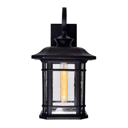 CWI LIGHTING 0411W10-1-101 Blackburn 1 Light Outdoor Black Wall Lantern