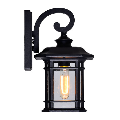 CWI LIGHTING 0411W8-1-101 Blackburn 1 Light Outdoor Black Wall Lantern