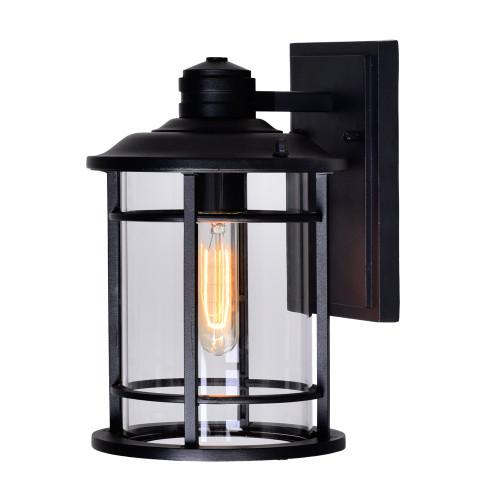 CWI LIGHTING 0096W7-1-101 Belmont 1 Light Outdoor Black Wall Lantern