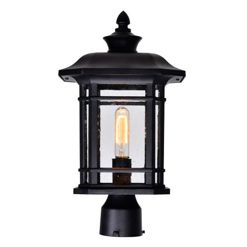 CWI LIGHTING 0411PT9-1-101 Blackburn 1 Light Outdoor Black Lantern Head