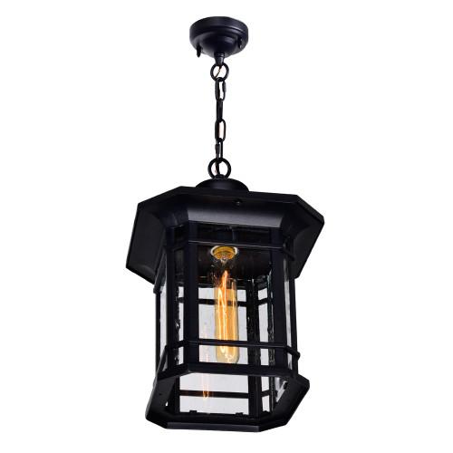 CWI LIGHTING 0411P9-1-101 Blackburn 1 Light Outdoor Black Pendant