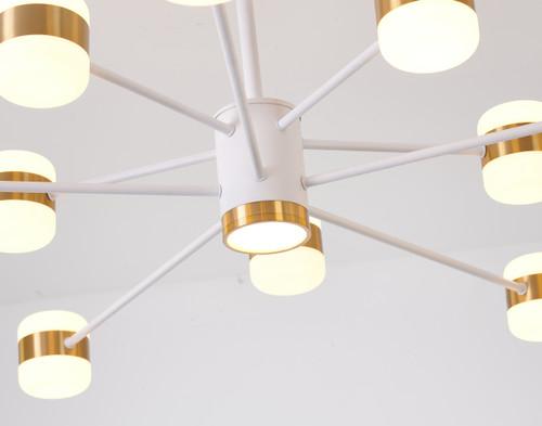 Bethel Internatioanl BE18C38WH 10-Light LED Chandelier