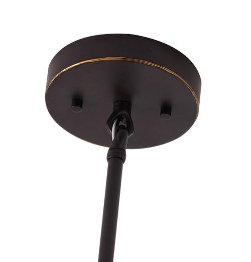 Bethel Internatioanl KC05P15BLK 1-Light Outdoor Pendant