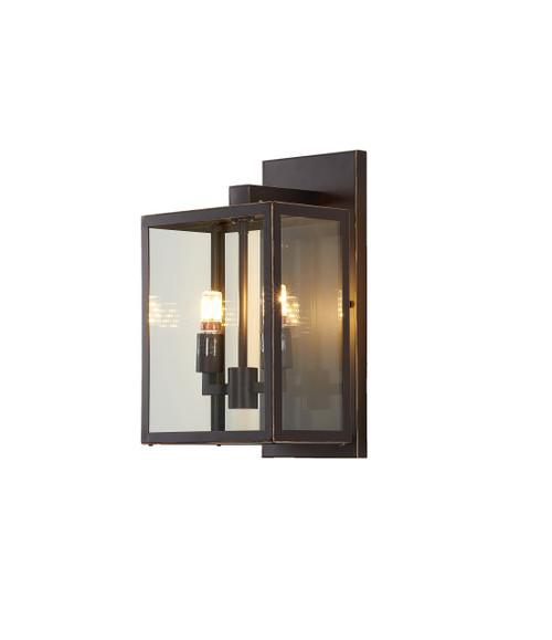 Bethel Internatioanl KC04W16BLK 2-Light Outdoor Wall Sconce