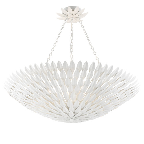 CRYSTORAMA 519-MT_CEILING Broche 8 Light Matte White Ceiling Mount
