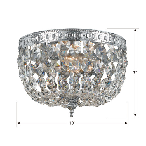 CRYSTORAMA 710-CH-CL-I Crystorama 2 Light Clear Crystal Chrome Ceiling Mount II
